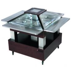 Buffet réfrigérée centrale carrée (cloche motorisée)